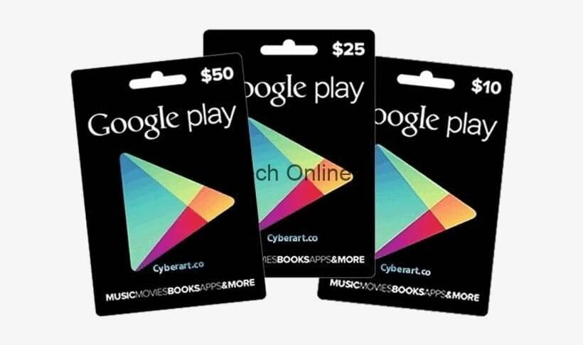 أكواد بطاقات جوجل بلاي